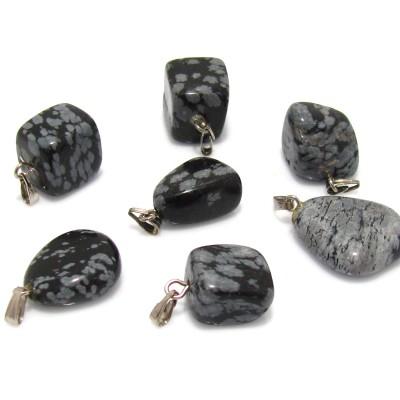 Benekli Obsidyen Kolye Ucu